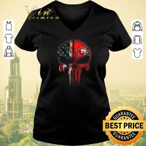 Hot The Punisher Skull American flag San Francisco 49ers shirt sweater