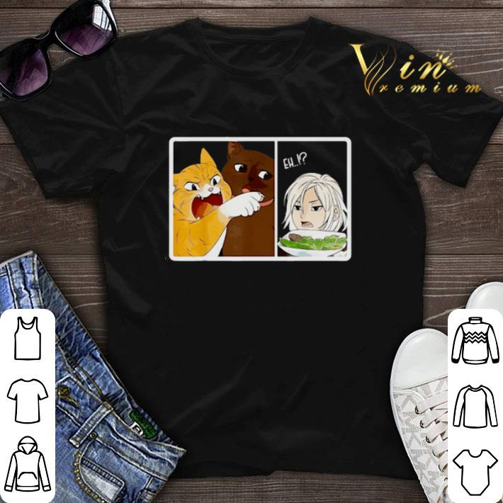Madoka Yelling And Garfield Woman Cat Meme Shirt Sweater Hoodie Sweater Longsleeve T Shirt