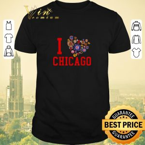Nice I love Chicago Sports Teams logo shirt sweater