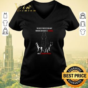 Nice The best protection any woman can have is courage and a German Shepherd shirt sweater