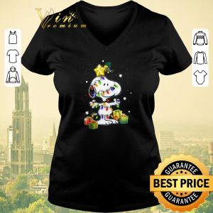 Official Woodstock Snoopy With Christmas Lights shirt sweater