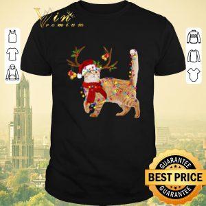 Original Christmas Cat gorgeous reindeer shirt