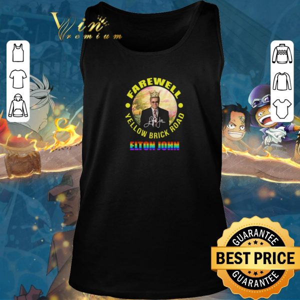 Original LGBT Elton John Farewell Yellow Brick Road signature shirt sweater 2019