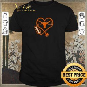 Original Love Texas Longhorns Stethoscope Heartbeat nurse shirt sweater