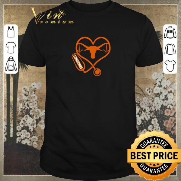 Original Love Texas Longhorns Stethoscope Heartbeat nurse shirt sweater