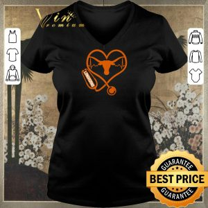Original Love Texas Longhorns Stethoscope Heartbeat nurse shirt sweater 1