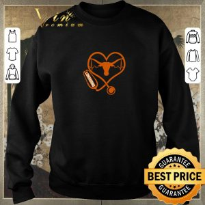 Original Love Texas Longhorns Stethoscope Heartbeat nurse shirt sweater 2