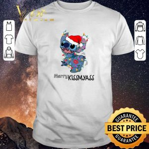 Original Stitch santa Merry Kissmyass Christmas shirt