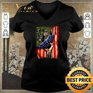 Premium American flag Veteran your name shirt