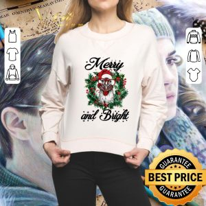 Premium Chicken Merry and Bright Christmas shirt