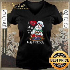 Premium Christmas I love being Grandma Snowman shirt sweater