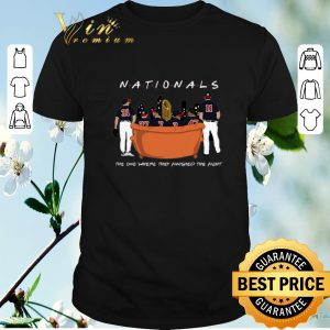 Premium Friends Washington Nationals the one where they finished the fight shirt sweater