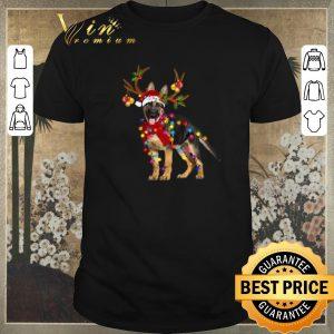 Premium German Shepherd santa reindeer Christmas shirt sweater