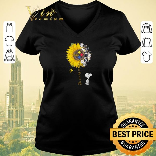 Premium Snoopy Woodstock you are my sunshine Pittsburgh Steelers shirt sweater