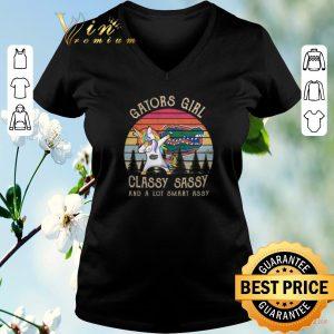 Premium Unicorn Florida Gators girl classy sassy and a lot smart assy shirt sweater 1