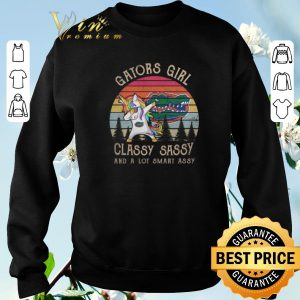 Premium Unicorn Florida Gators girl classy sassy and a lot smart assy shirt sweater 2