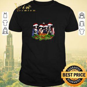 Pretty American Flag Kiss Merry Christmas shirt