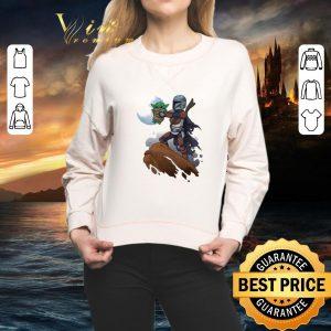 Pretty Baby Yoda Mandalorian Mandalion Kawaii King shirt