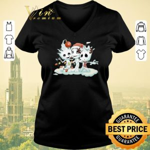 Pretty Christmas Baby Groot mashup Snowman shirt