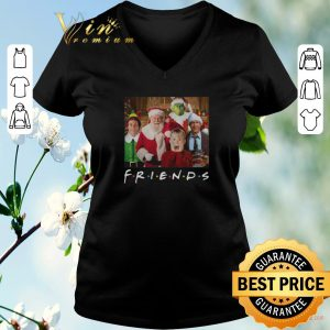 Pretty Christmas Friends Grinch Elf Santa Clark Griswold Kevin Characters shirt