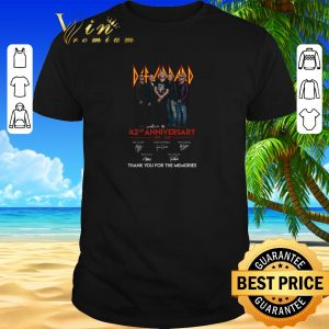 Pretty Def Leppard 42nd anniversary 1977-2019 signatures shirt sweater 2019