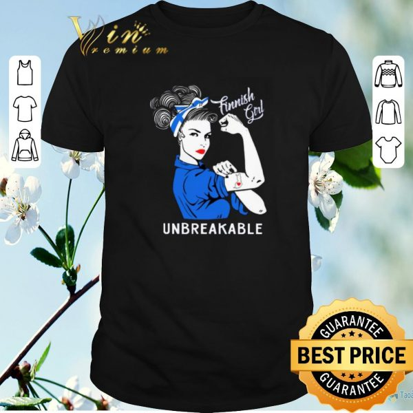 Pretty Finnish Girl Unbreakable Finland Flag shirt sweater