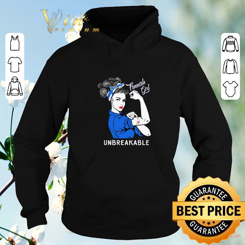 Pretty Finnish Girl Unbreakable Finland Flag shirt sweater 4 - Pretty Finnish Girl Unbreakable Finland Flag shirt sweater