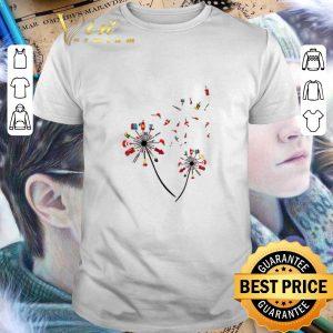 Pretty Firefighter dandelion shirt