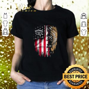 Pretty Jack Daniel's inside American flag shirt