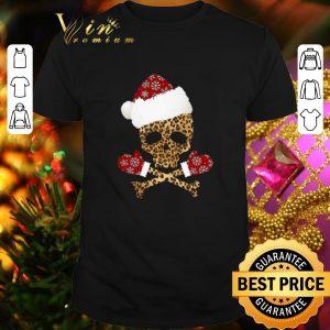 Pretty Leopard Skull Christmas shirt