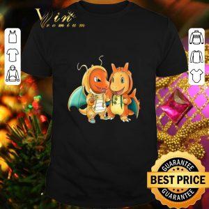 Pretty Pokemon baby Charmander and Charizard shirt