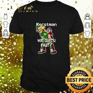 Pretty Santa Kerstman wat doet u nu Christmas shirt