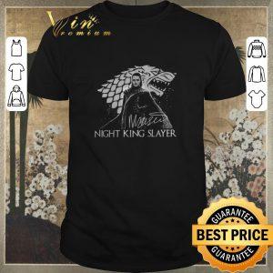 Pretty Signature Arya Stark Night King Slayer shirt