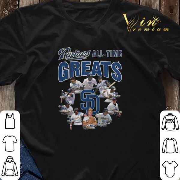 Signatures San Diego Padres all time greats shirt