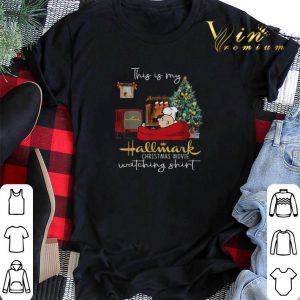 Snoopy Charlie this is my Hallmark Christmas movie watching shirt sweater