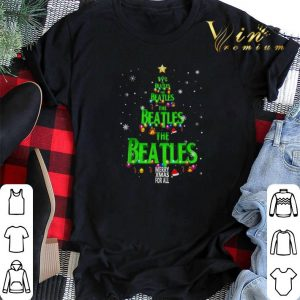 The Beatles Merry Xmax For All Chirstmas tree shirt sweater