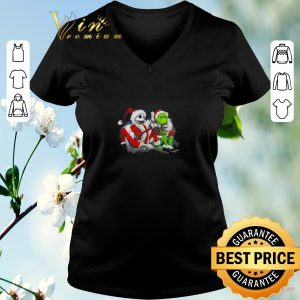 Top Merry Christmas Jack Skellington and Grinch shirt