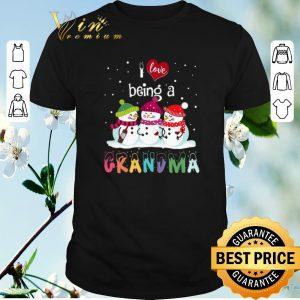 Top Snowmans I Love Being a Grandma Christmas shirt sweater
