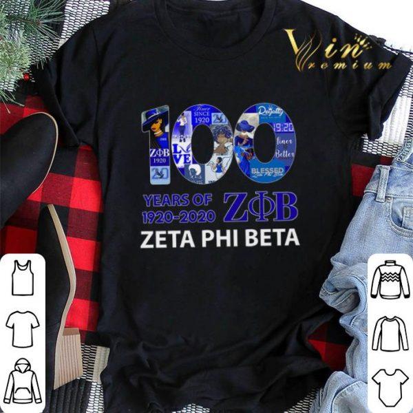 100 years of 1920 2020 Zeta Phi Beta logo shirt sweater