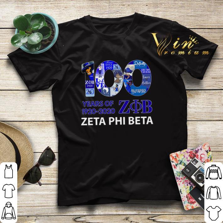 100 years of 1920 2020 Zeta Phi Beta logo shirt sweater 4 - 100 years of 1920 2020 Zeta Phi Beta logo shirt sweater