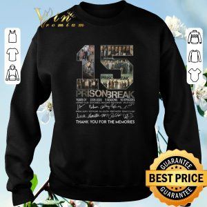 Awesome 15 years of Prison Break thank you for the memories all signature shirt sweater 2
