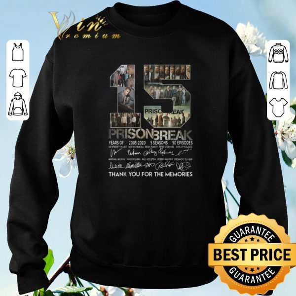 Awesome 15 years of Prison Break thank you for the memories all signature shirt sweater