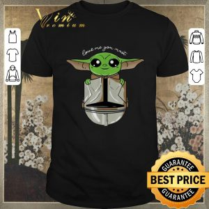 Awesome Baby Yoda Love Me You Must The Mandalorian shirt sweater