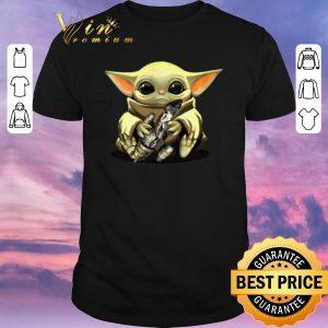 Awesome Baby Yoda hug Combat Aircrafts Star Wars shirt sweater