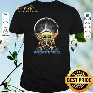 Awesome Baby Yoda hug Mercedes-Benz Star Wars shirt sweater