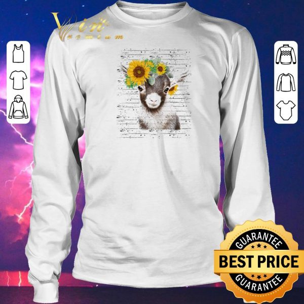 Awesome Baby goat sunflower shirt sweater