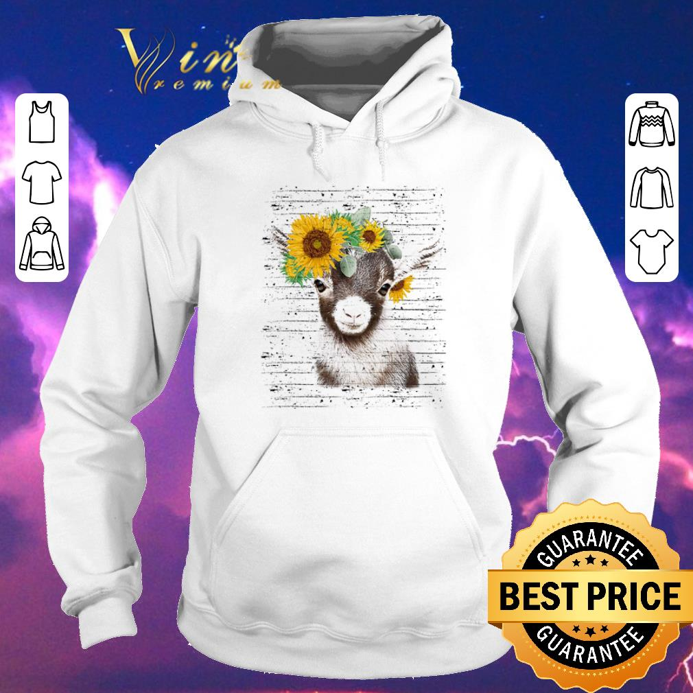 Awesome Baby goat sunflower shirt sweater 4 - Awesome Baby goat sunflower shirt sweater