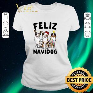 Awesome Christmas Feliz Navidog Australian Shepherd shirt
