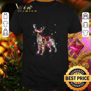 Awesome Christmas Lights Brittany Spaniel Dog Reindeer Santa Hat shirt