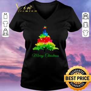 Awesome Colorful merry Christmas Tree Art shirt sweater